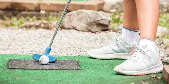 Play mini golf at Laurelville in the Laurel Highlands