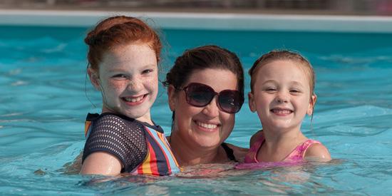Community swimming pool at Laurelville, near Pittsburgh, PA