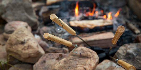 Enjoy a campfire at Laurelville, a Christian Retreat Center