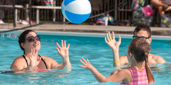 Pool and activities at Laurelville in the Laurel Highlands