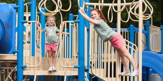 Enjoy the playground at Laurelville, a Christian Retreat Center
