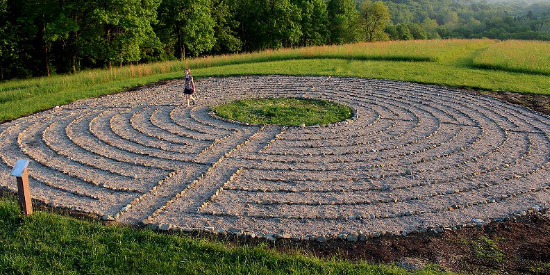 Prayer labyrinth at at Laurelville, a Christian Retreat Center